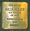 Stolperstein für Hulda Müller geb. Ehrlich