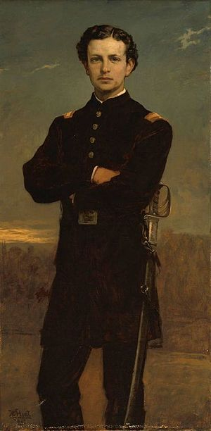 Roger Wolcott (Massachusetts) - Lt. Huntington Frothingham Wolcott, formerly in collection of brother Roger Wolcott, by Boston painter William Morris Hunt