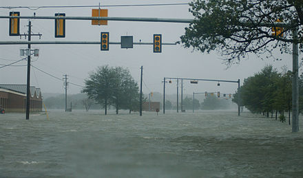 Flood waters at Langley AFB, Hampton, Virginia as a result of Hurricane Isabel Hurricane Isabel flood water.jpg
