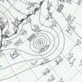 Hurricane Thirteen surface analysis October 05, 1954.png