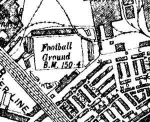 Hyde Road (stadium) - Image: Hyderoad 1909OSmap