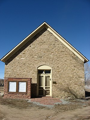 Church of the Brethren - Brethren have always emphasized simplicity in all aspects of their life. This church house from Hygiene, Colorado, displays that simplicity and humility.