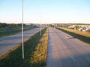 Interstate 29 in South Dakota - I-29 northbound in Sioux Falls