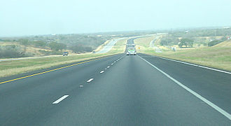 Interstate 37 - A rural segment of I-37 between Corpus Christi and San Antonio