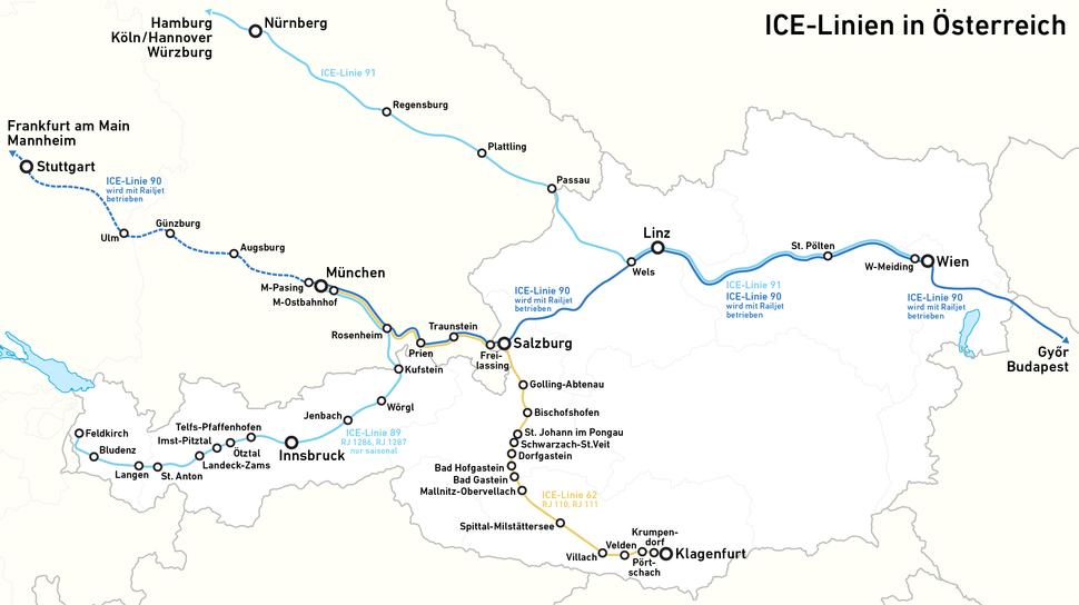 ICE-Linien in %C3%96sterreich