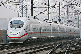 ICE 3 - NS logoed ICE 3 (Class 406) on the Cologne-Frankfurt high-speed line