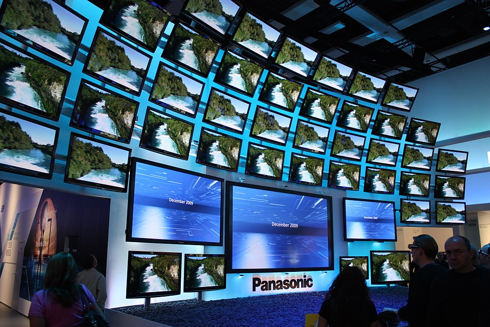 A display of Panasonic televisions