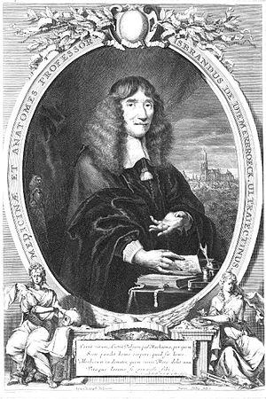 Isbrand van Diemerbroeck - Isbrand van Diemerbroeck, ca. 1670, engraving by Jean Edelinck