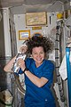 ISS-26 Cady Coleman washes her hair.jpg