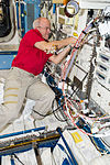 ISS-47 Jeff Williams works in the Kibo lab.jpg