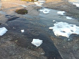 Geography of Finland - Effects of the last ice age: glacial striations in a country without glaciers.
