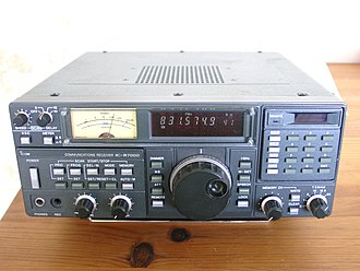 Radio receiver - A modern communications receiver, used in two-way radio communication stations to talk with remote locations by shortwave radio.