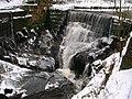 Icy waterfall on Pendle Water - geograph.org.uk - 1626521.jpg