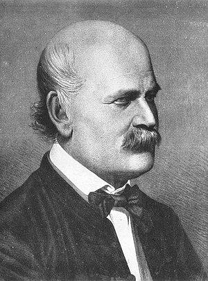 Ignaz Semmelweis 1860 (Copper plate engraving ...
