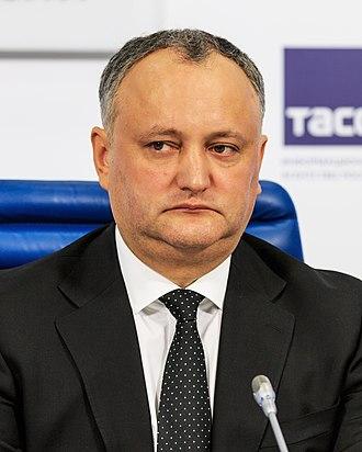 Moldovan parliamentary election, 2014 - Image: Igor Dodon Moscow Tass 01 2017