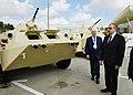 Ilham Aliyev viewed 3rd Azerbaijan International Defense Exhibition ADEX 2018 01.jpg