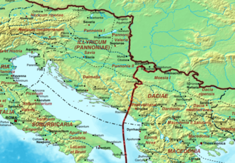 Diocese of Dacia - Dacia and Illyria in 400 AD