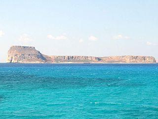 Gramvousa Rocky islands off the Greek island of Crete