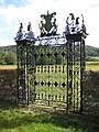 Impressive wrought iron gate - geograph.org.uk - 891329.jpg