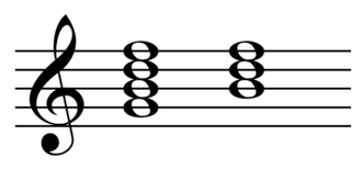 Diminished triad - Image: Incomplete dominant seventh chord in C major