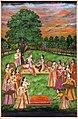 India del nord, periodo mogul, la coppia reale giocano a holi con una cortigiana, 1760 ca.jpg
