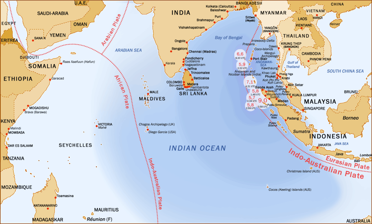 effect of the 2004 n ocean earthquake on