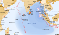 Map of the Indian Ocean region