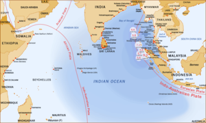 Coastline of Tamil Nadu - Countries affected by the 2004 Indian Ocean earthquake