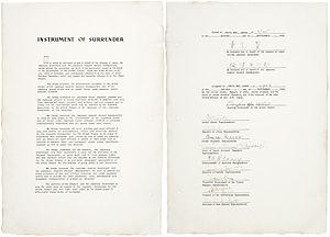 Occupation of Japan - The instrument of surrender, dated September 2, 1945