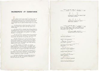 Occupation of Japan - The instrument of surrender, dated September 2, 1945