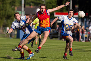 International rules football - The 2014 International Rules match at the University of Birmingham