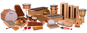 Orff Schulwerk - Some typical teaching instruments Orff-Schulwerk