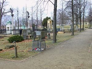 Invalids' Cemetery - Looking west to the Graves of Scharnhorst and Boyen