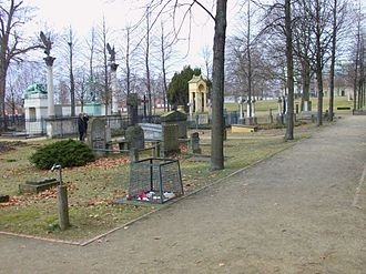 Invalids' Cemetery - Looking west to the Graves of Scharnhorst, Boyen and the Rauch family