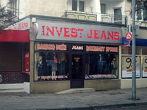 Invest jeans, clothes shop at ulica Starowiejs...