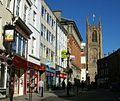 Iron Gate, Derby- with cathedral tower.JPG
