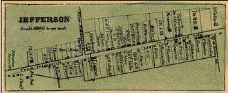 Jefferson, Maryland - Image: Isaac Bond Map Library of Congress, MSA SC 1213 1 457
