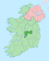 Island of Ireland location map Offaly.svg