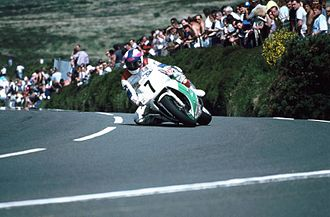 Creg-ny-Baa, Isle of Man - Nick Jefferies on his Honda RC30 at Creg-ny-Baa in 1992