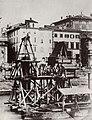 Italienischer Photograph um 1877 - Der Bau der Not-Brücke von Ripetta (Zeno Fotografie).jpg