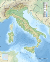 Italy topographic map-blank