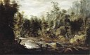 J.G. Camphuysen - Rotslandschap met jager - NK2456 - Cultural Heritage Agency of the Netherlands Art Collection.jpg