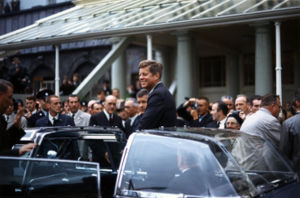 President John F. Kennedy in Ireland.