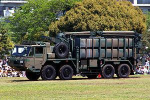 Type 03 Chū-SAM - Image: JGSDF Type 03 SAM (transporter) 01