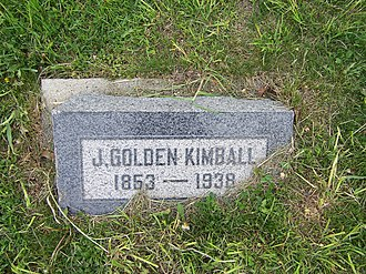 J. Golden Kimball - Image: J Golden Kimball Headstone