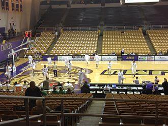 James Madison University Convocation Center - The Convocation Center, set up for basketball