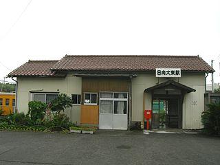 railway station in Kushima, Miyazaki prefecture, Japan