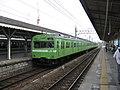 JRW 103 uguisu livery Yamatoji Line local 2005-06-11.jpg