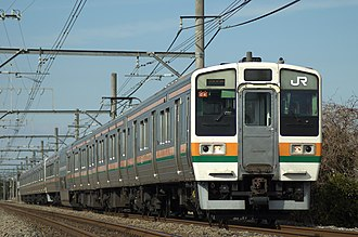 211 series - JR East 211 series set on a Takasaki Line service in May 2007