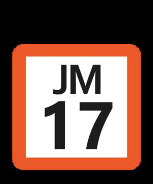 Misato Station (Saitama) - Image: JR JM 17 station number